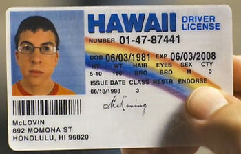 not this kind of license
